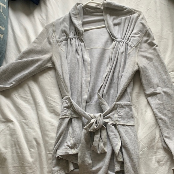 Lululemon sweatshirt material cardigan